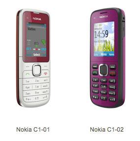 Nokia C1 01 02 Nokia C1, C2: Nouveaux Mobiles 2 SIM pas Chers