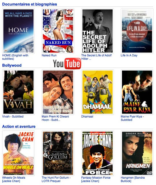 Free Movies on YouTube