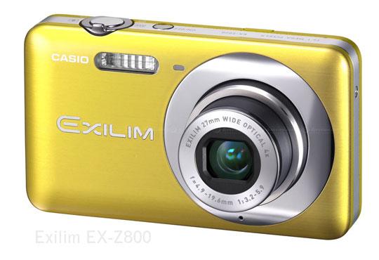 casio exilim ex z800 Casio EX S200 et EX Z800: Nouveaux APN 14Mp, Zoom Optique 4x