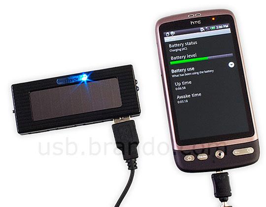Chargeur Solaire avec HUB USB 4 ports et Lampe Torche