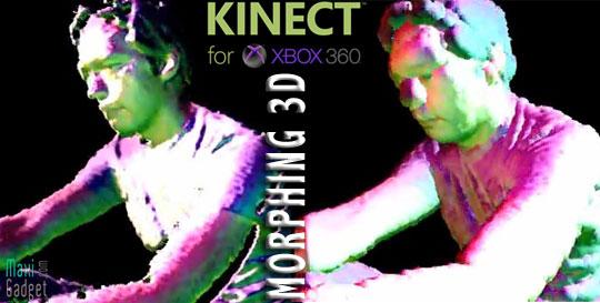 Experience morphing 3D avec Kinect, Cinder et C++