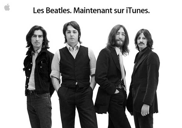 Les Beatles maintenant sur iTunes