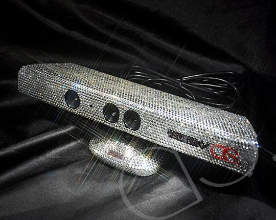 kinect cristal swarovski Kinect Xbox 360 en Cristal de Swarovski: Edition De Luxe