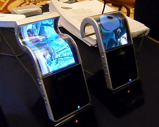 Ecran Flexible AMOLED 4.5 pouces chez Samsung Mobile Display au CES 2011