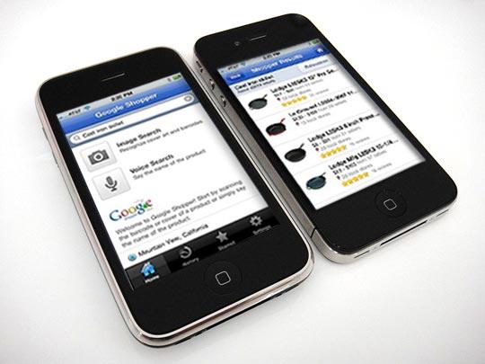 nouveau comparateur de prix sur iPhone avec Google Shopper