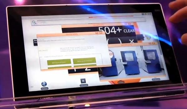 nouvelle interface multi-fenetres pour tablette android et meego