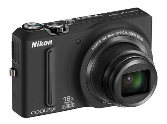 nouveau compact numérique Nikon Coolpix S9100 modèle Noir Titanium