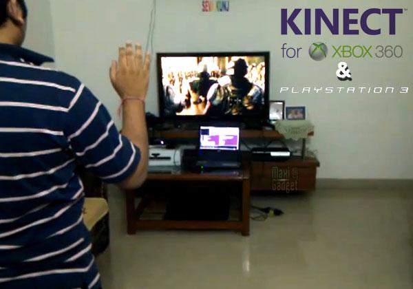 jouer à Microsoft Kinect sur console PS3 c'est possible
