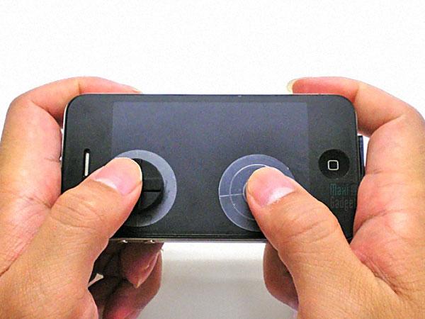 un kit autocollant de boutons et gamepad pour iphone et ipod touch