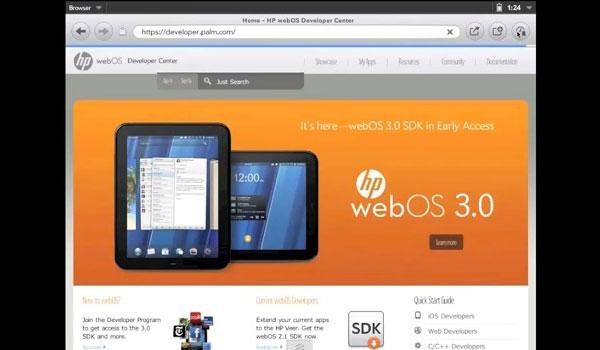 Emulateur nouvelle interface HP webOS 3.0 en video