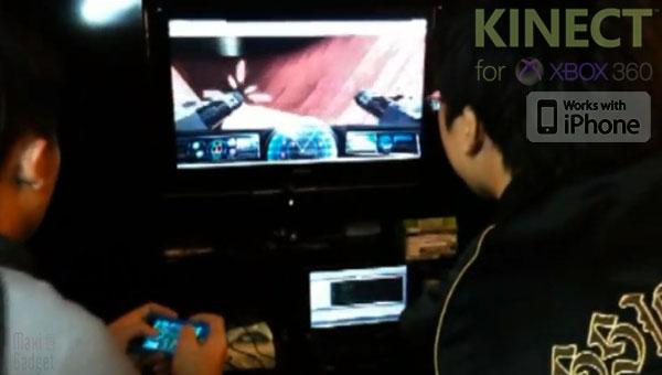 iphone 4 rejoint kinect pour une nouvelle experience de jeu