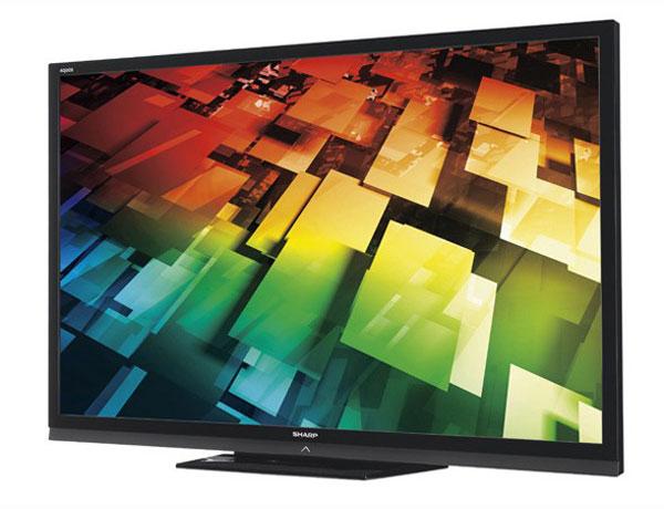 """Plus grande TVHD LCD 70"""" du marché chez Sharp modele AQUOS Quattron"""