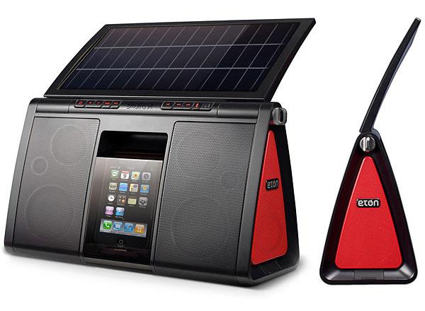 nouvelle station d'accueil solaire Eton Soulra XL pour iPhone iPod
