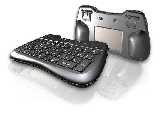 nouveau mini clavier sans fil avec touchpad au dos (itablet thumb keyboard)