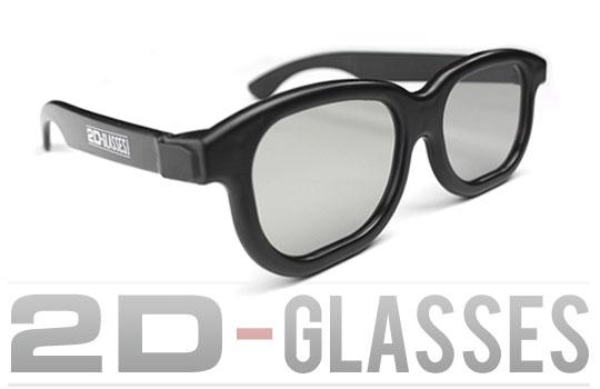 paire de lunettes 2D pour voir des films 3D sans mal de tête