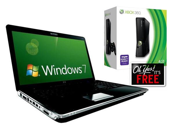 microsoft offre une xbox 360 pour tout achat d'un pc sous windows 7
