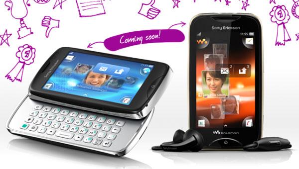 ces deux futurs smartphones chez sony ericsson seraient TXT Pro et Mix Walkman