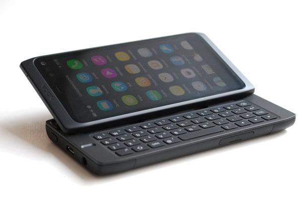 nouveau Nokia N950 mobile clavier physique coulissant sous meego 1.2