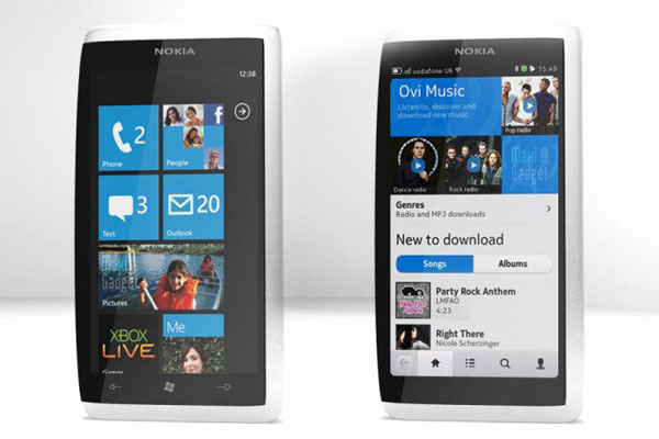 nouveau concept smartphone Nokia N10 avec 3 OS (android, windows phone 7, meego)