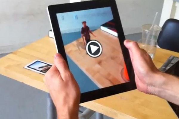 demo video 3D en réalité augmentée sur ipad avec kinect