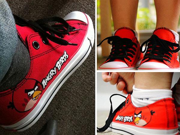 chaussure basket souple angry birds disponible en plusieurs couleurs