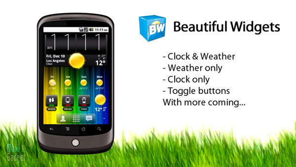 telecharger gratuitement (download for free) beautiful widgets android