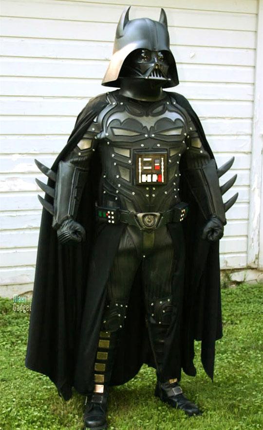 super costume cosplay croisement entre batman et dark vador