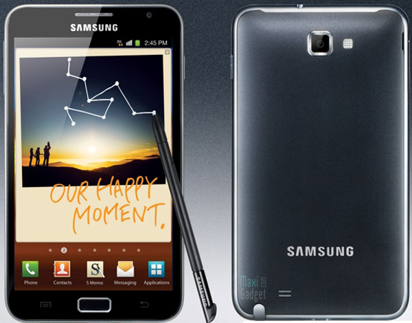 samsung galaxy note smartphone 5 3 Samsung Galaxy Note: Nouveau Smartphone 5.3 avec Stylet