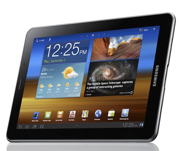 nouvelle tablette 7.7 pouces sous android honeycomb 3.2 avec écran Super AMOLED chez Samsung