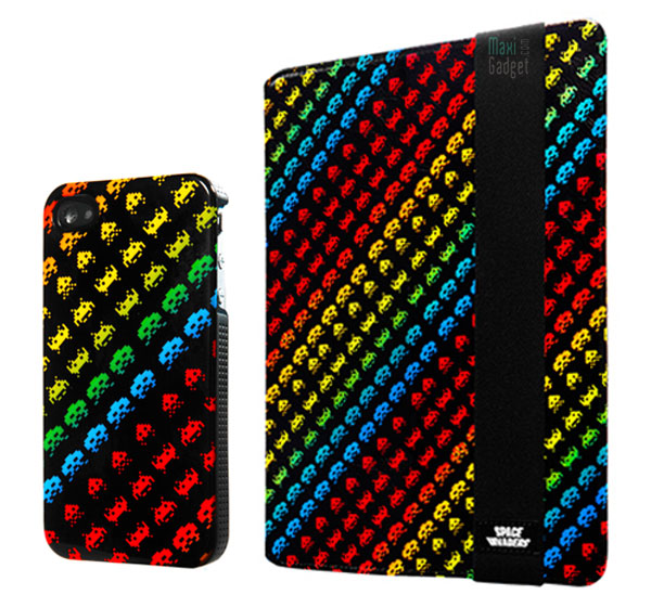 space invaders etui housse de protection iphone 4 ipad 2