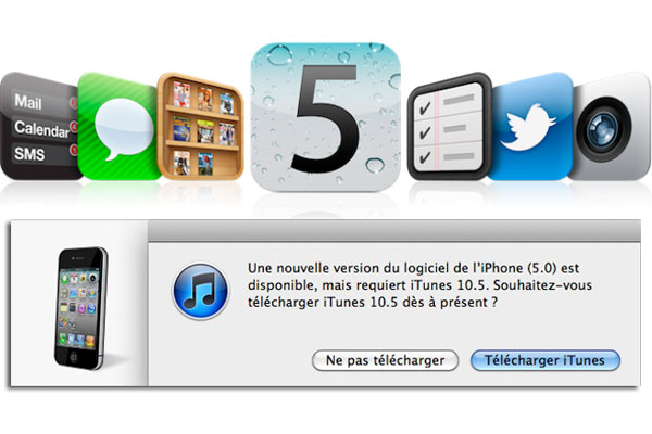telecharger mise a jour ios 5 pour iphone, ipod touch, ipad