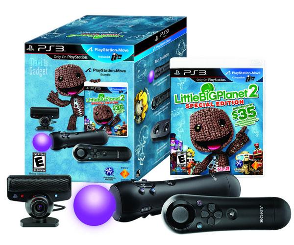 nouveau pack sony playstation move avec jeu little big planet 2 pour ps3
