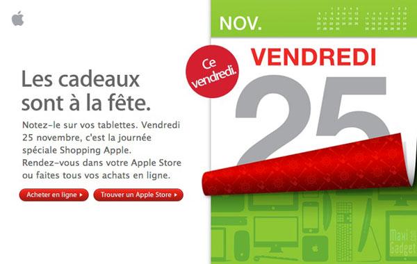 soldes promotions journée shopping chez apple durant 24h