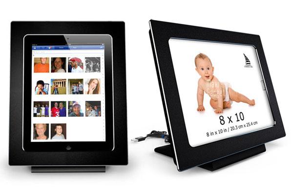 transformer tablette ipad en cadre photo numerique noir avec miframe