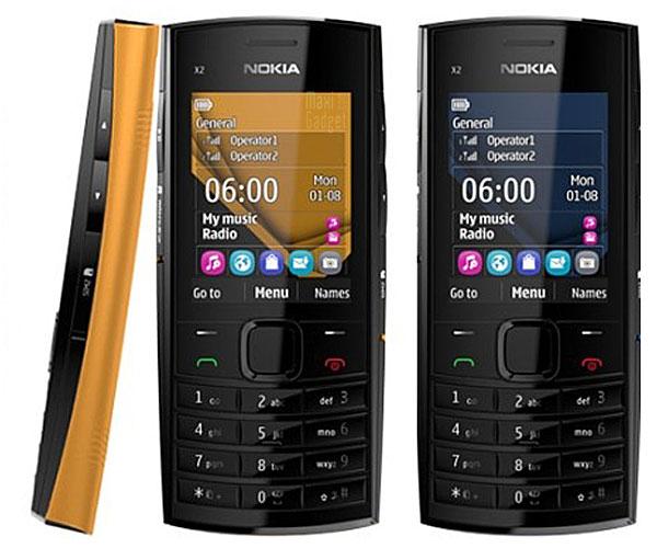 Nokia X2 02 Dual SIM Nokia X2 02: Nouveau Mobile Musical 2 Cartes SIM pas Cher