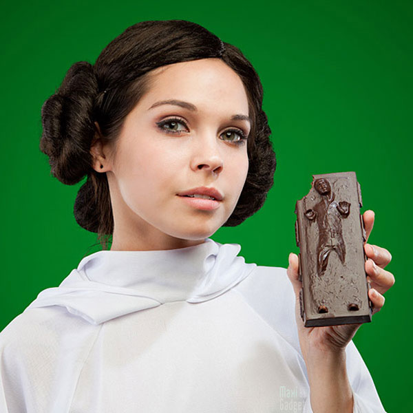 coffret officiel chocolat star wars han solo carbonite