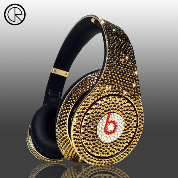 beats by dr dre casque or et cristaux swarovski