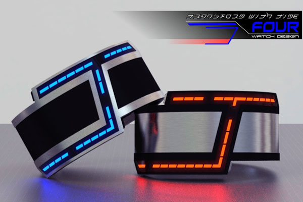 four montre led futuriste