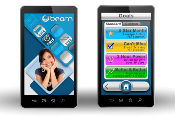 beam application android pour brosse à dent bluetooth