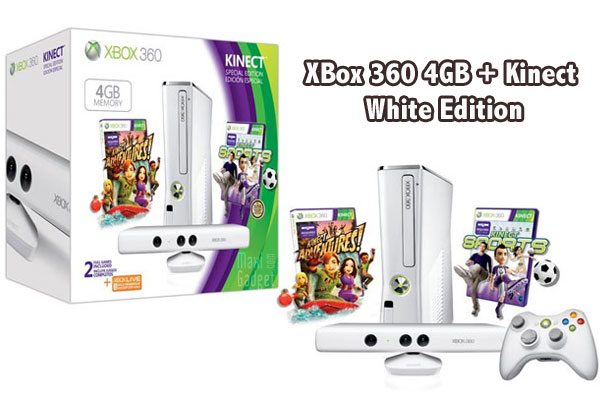 collector pack xbox 360 kinect de couleur blanche