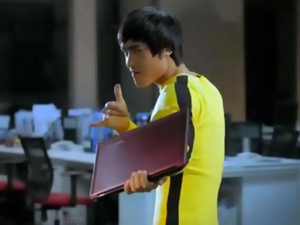 pub lenovo avec bruce lee PUB TV: Bruce Lee fait la promo dun portable PC Lenovo
