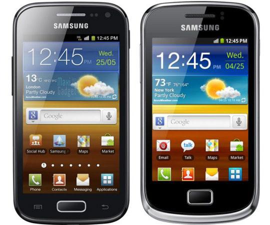 samsung galaxy ace 2 et samsung galaxy mini 2 sont officiels