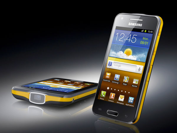 samsung galaxy beam smartphone picoprojector Samsung Galaxy Beam: Smartphone Projecteur Android en Video