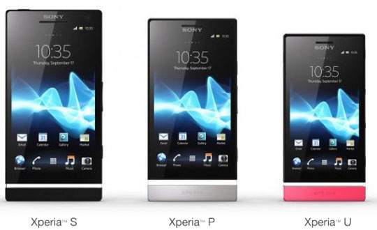 sony xperia nxt series nouvelle gammes de smartphones android 2012