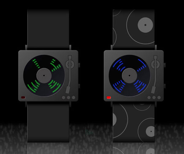 hi-five montre led mp3 nouveau concept