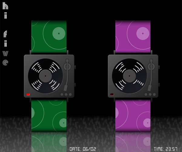 hi-five montre led mp3 nouveau style