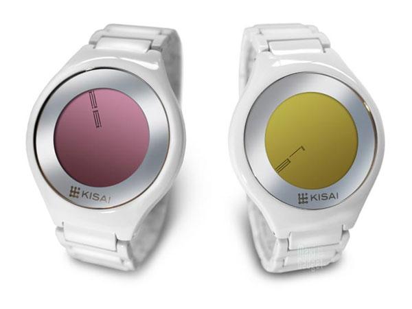 kisai on air acetate montre tactile design affichage LCD retro-éclairé au LED
