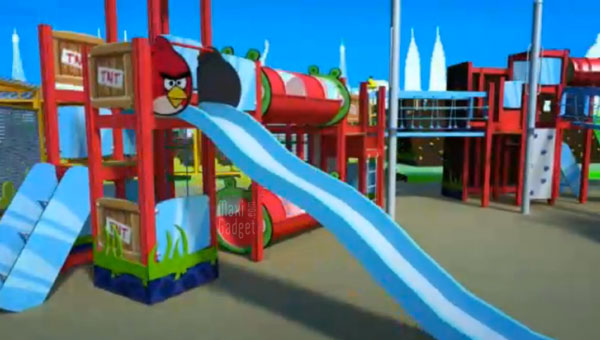 angry birds parc a theme officiel (animation video 3d)