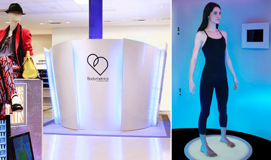 cabine essayage virtuelle bodymetrics avec kinect