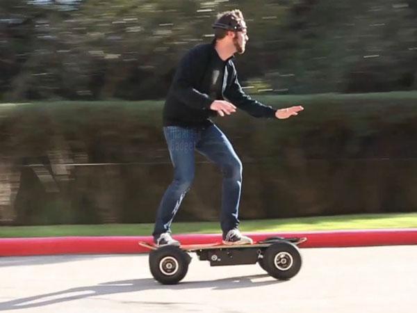 controler skateboard par la pensee demo video